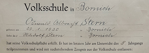 Oswald Albrecht Stern schließt die Schulausbildung ab
